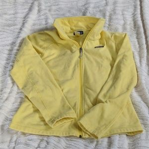 Patagonia Women's Fitted Yellow Fleece Jacket